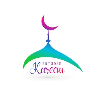 Vibrant mosque design for ramadan kareem