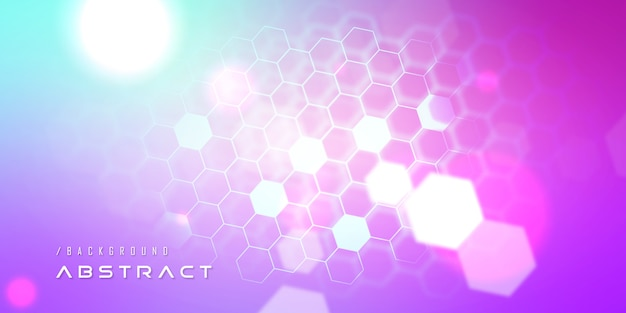 Vibrant nano hexagon technology background