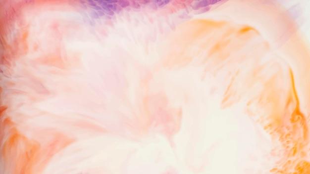 鮮やかなオレンジ色の水彩画の背景ベクトル