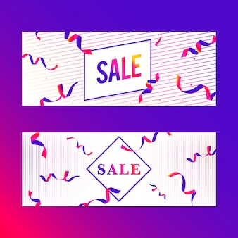 Vibrant pink sale sign set