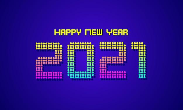 活気に満ちたレトロな新年あけましておめでとうございますの背景 Premiumベクター