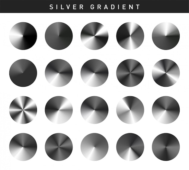 Vibrant silver gradients swatches set free