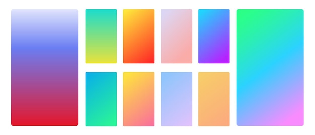 Vibrant and smooth gradient soft colors for devices Premium Vector