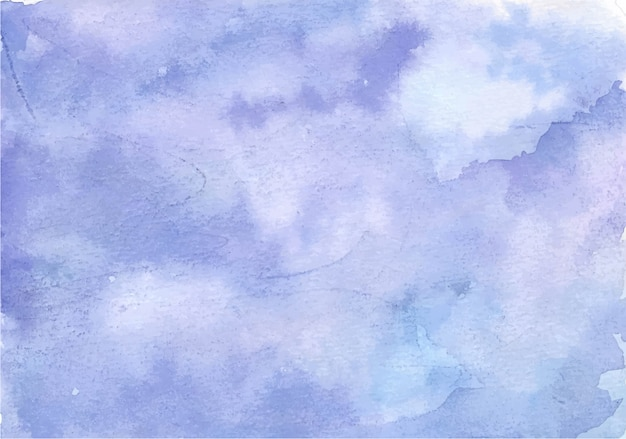Vibrant soft purple abstract watercolor background