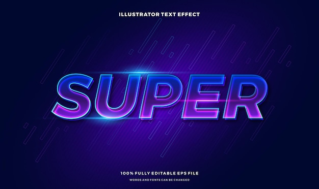 Vibrant text style.  vector editable text style effect.
