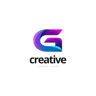 Vibrant trendy colorful creative letter g logo