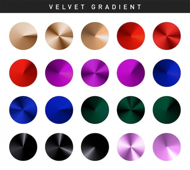 Vibrant velvet gradients swatches set free
