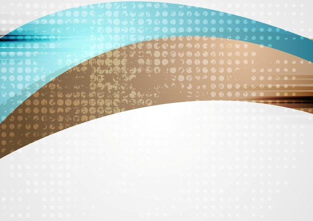 Vibrant wavy abstract corporate background. vector design