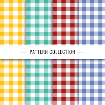 Vichy pattern collection in different colors
