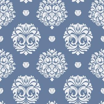 ビクトリア朝のバロック様式の背景。シームレスパターン装飾ヴィンテージ。平らな