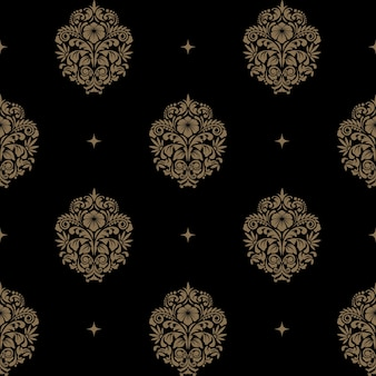 Victorian baroque seamless pattern. background
