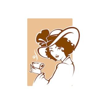 Викторианский портрет леди