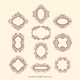 Victorian collezione distintivo ornamentali