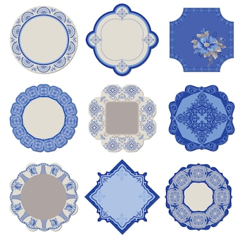 Victorian tags and frames porcelain