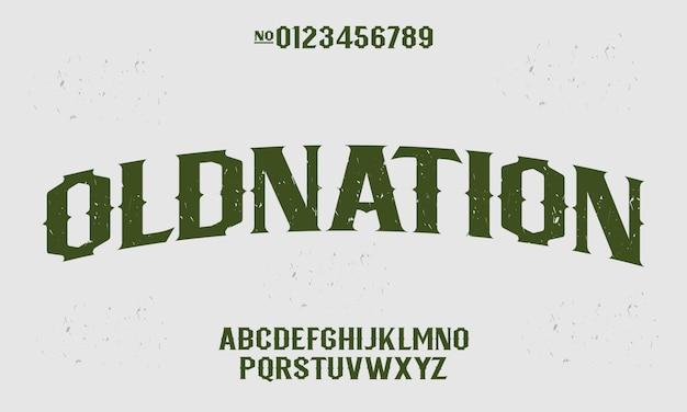 Victorian vintage alphabet typeface