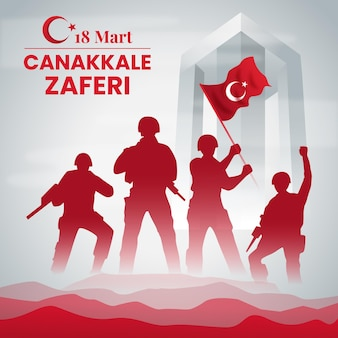 Victory of canakkale gradient illustration