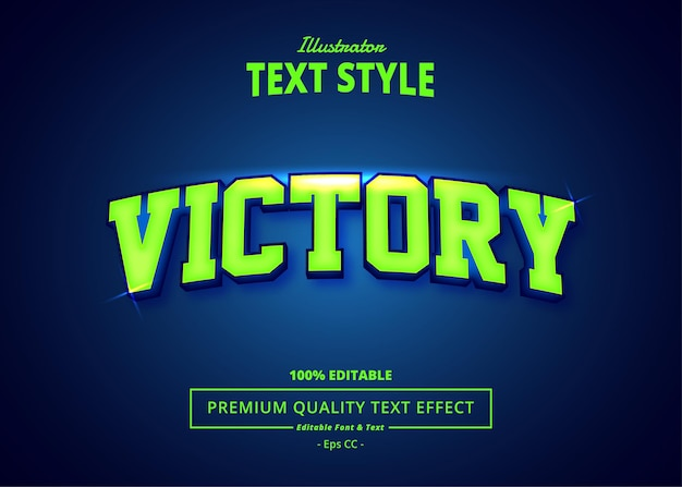 Victory editable text effect