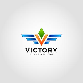 Victory - letter v logo template
