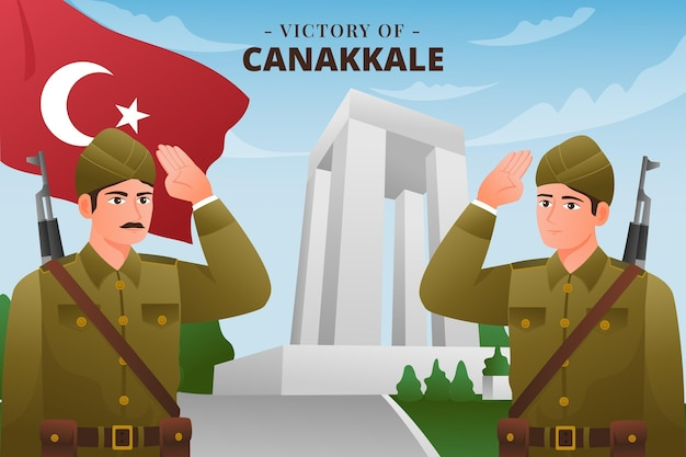 Canakkale 그라데이션 그림의 승리