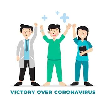 ウイルスと勝利の社会生活の勝利