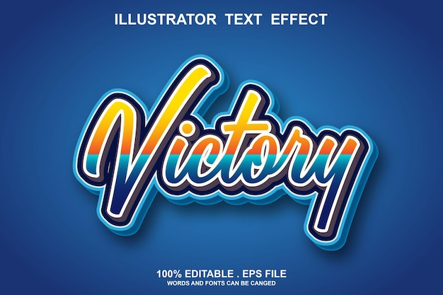 Victory text effect editable