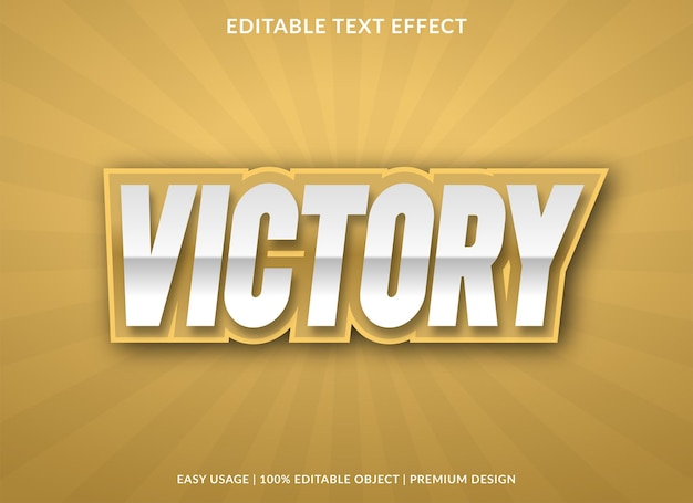 Victory text effect with bold style