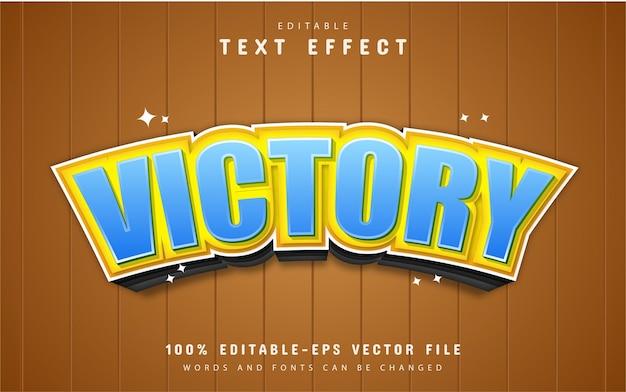 Victory text effect