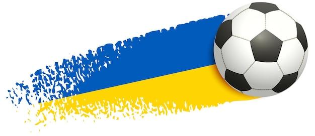 Победа сборной украины по футболу футбольный мяч летать украинский флаг векторный мультфильм