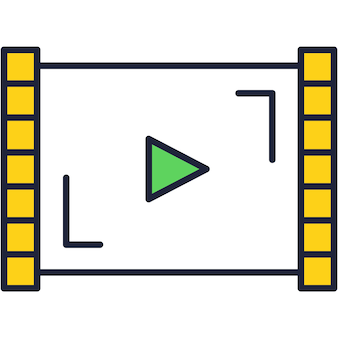 Video app icon vector live camera application
