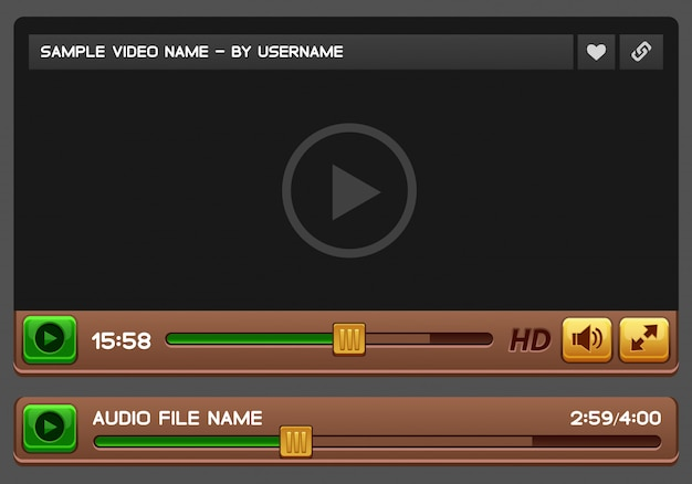 Video and audio player