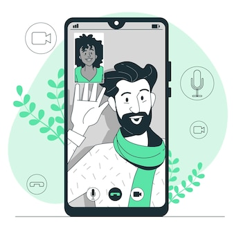 Video call concept illustration