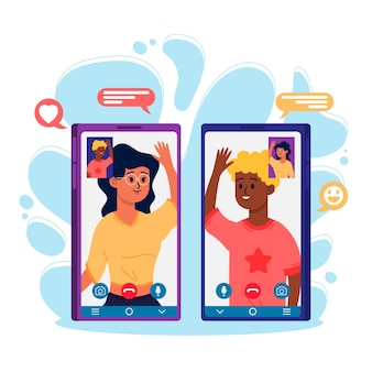 Video call concept with device