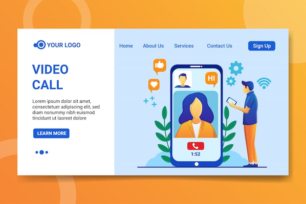Video call landing page