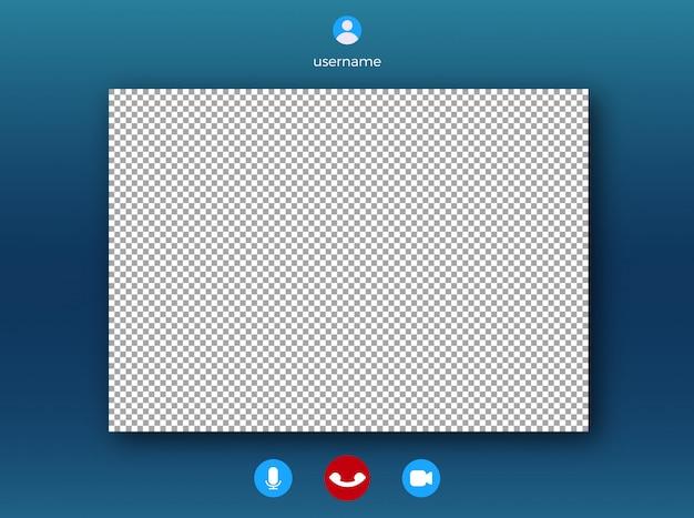Video call screen template