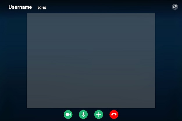 Video call screen template.