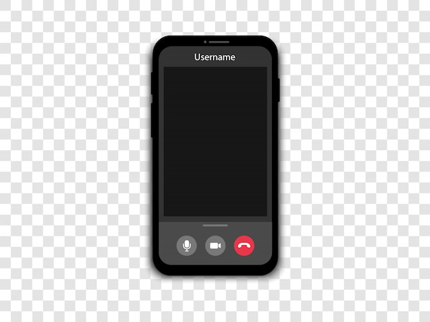 Video call on a smartphone. phone screen with video call and online conference.