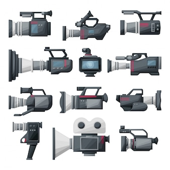 Video camera cartoon  illustration