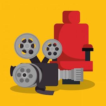 Video camera cinema icons