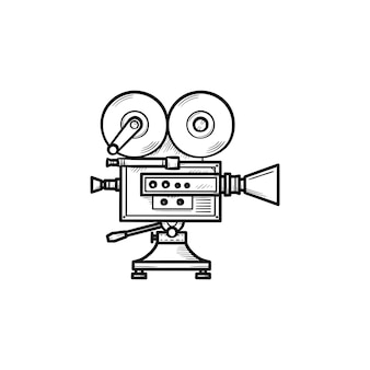 Video camera hand drawn outline doodle icon