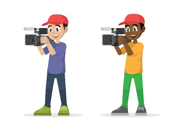 Video cameraman.