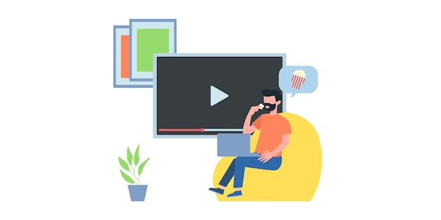 Иллюстрация видеоконференции. люди на экране компьютера с коллегой. векторная страница рабочего пространства видеоконференцсвязи и онлайн-встреч. видеоконференция онлайн, иллюстрация деловых людей