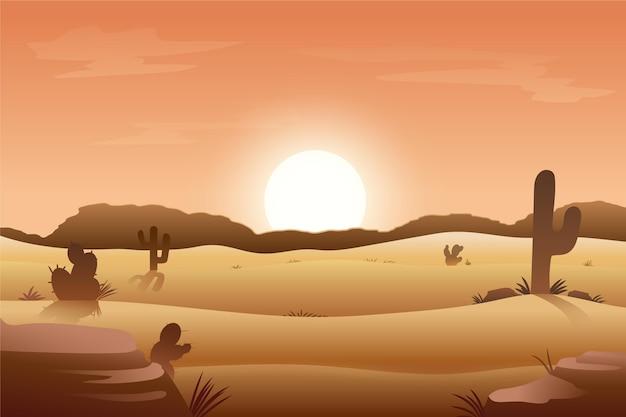 ビデオ会議の砂漠の風景