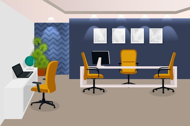 Video conferencing office background