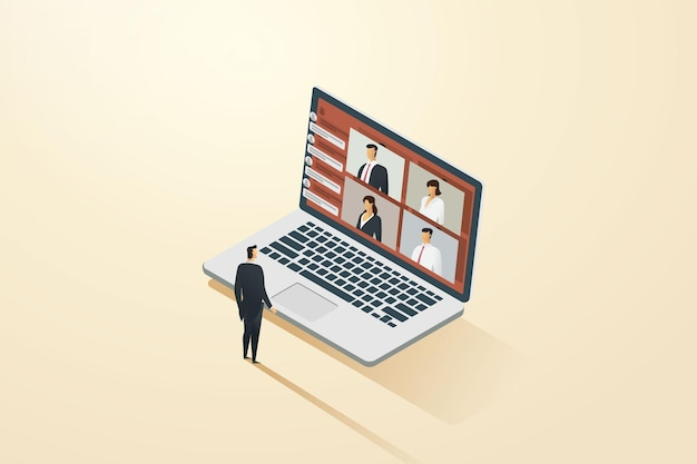 Video conferencing with online links is like meeting with business people