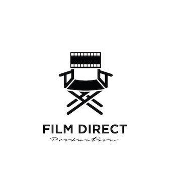 Video director studio movie film production logo design