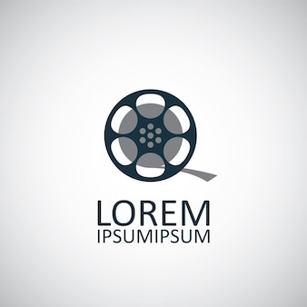 Video film icon isolated on white background