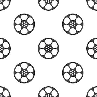 비디오 필름, 벡터 원활한 패턴, 편집 가능은 웹 페이지 배경, 패턴 채우기에 사용할 수 있습니다.