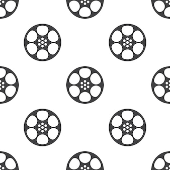 Video film, vector seamless pattern, editable can be used for web page backgrounds, pattern fills
