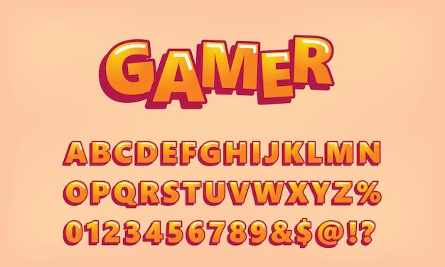 Video game alphabet