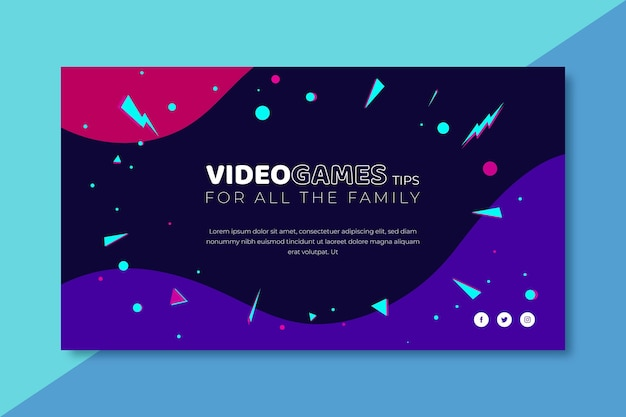 Video game banner blog template